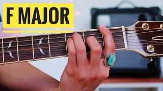 F major chord - 3 ways! | Begİnner Guitar Lesson