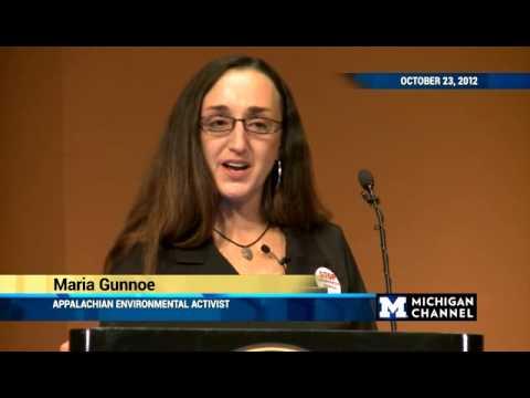 Maria Gunnoe, 2012 Wallenberg Lecture