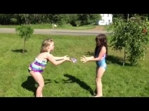 Sarah Bobara & Josie Posie Puddin' N Pie playing water ball
