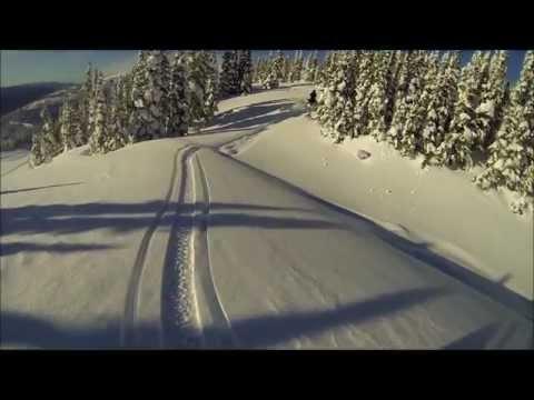 Go Pro Hero 3 exploring torpy B.C snowmobiling