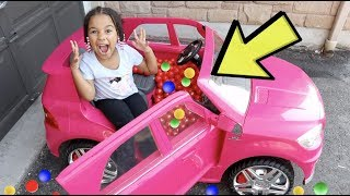 1000 Balls in Cali's Car Smashers Surprise | FamousTubeKIDS