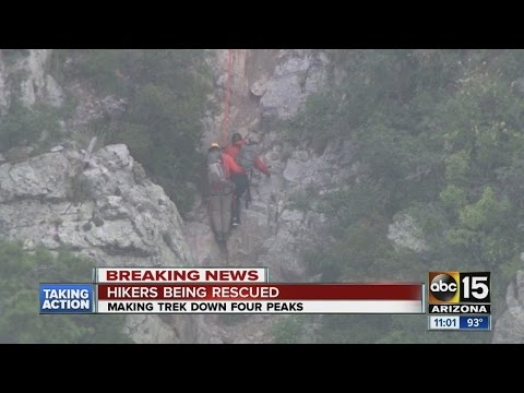 ABC15 News at 11am Phoenix hikers rescued