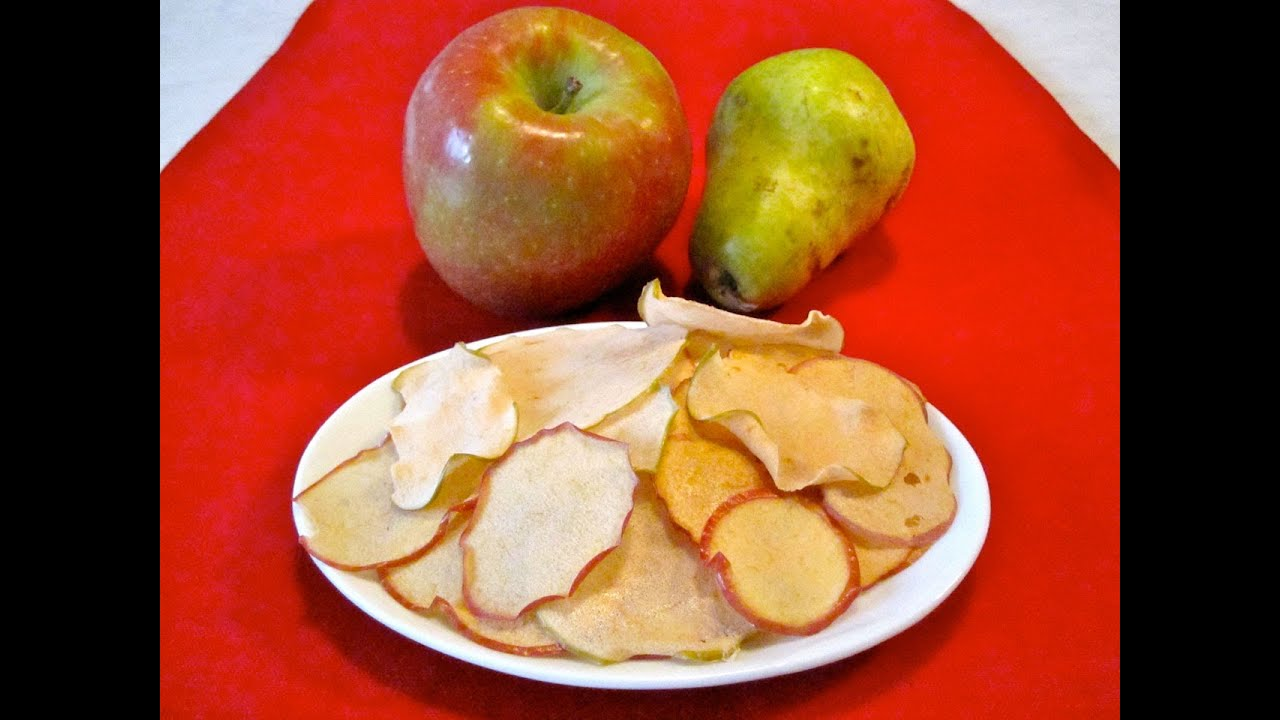 Snack Food Recipe For Kids How To Make Apple And Pear Chips Children