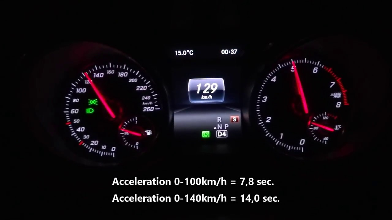 2018 Mercedes-Benz A220 AMG 4Matic  0-100 km/h Acceleration Test 0-140