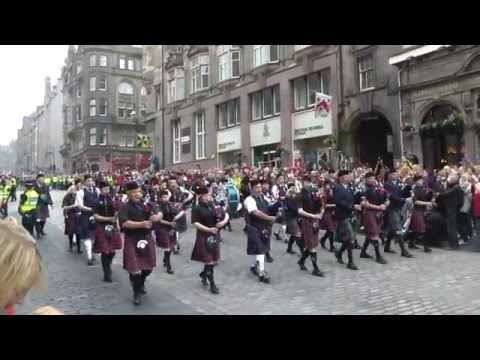 Massed Pipes & Drums on Edinburgh's Royal Mile