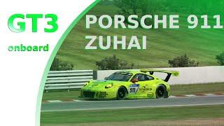 Porsche 911 GT3 onboard @Zuhai International Circuit   RaceRoom Racing Experience