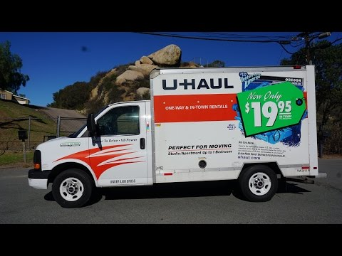 U Haul Truck Video Review 10' Rental Box Van Rent Pods Storage