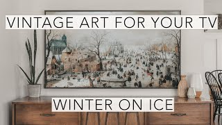 Winter Skating | Vintage Art Slideshow for your TV | 1hr of 4K HD Paintings.