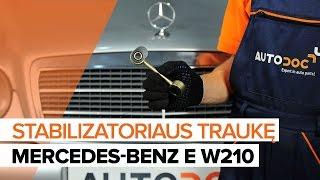 Išmontavimo Pasukimo trauklė MERCEDES-BENZ - vaizdo vadovas