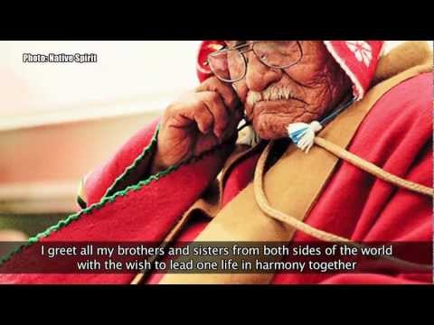 Maya, Kuna, Mapuche and Aymara elders in London