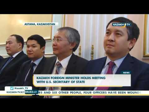 President Nazarbayev meets with U.S. secretary of state - Kazakh TV