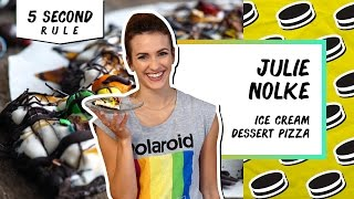 Ice Cream Dessert Pizza | 5 Second Rule with Julie