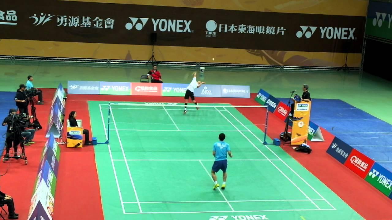 105全國羽球排名賽 乙組男單冠軍賽 李佳豪vs 陳俊成 - YouTube