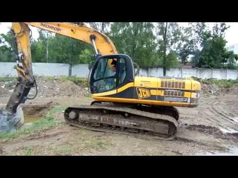 Digger With Breaker, Гидромолот на JCB 260