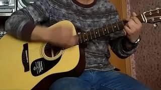 Восьмиклассница.    На гитаре.