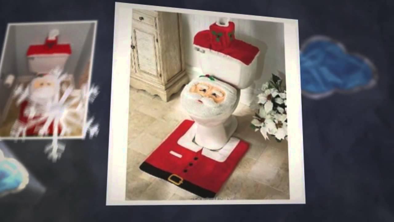 Juegos De Baño De Navideno Paso A Paso:Santa Claus Juego De Bano En Fieltro