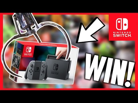 Winning A Nintendo Switch From The Claw Machine Arcade