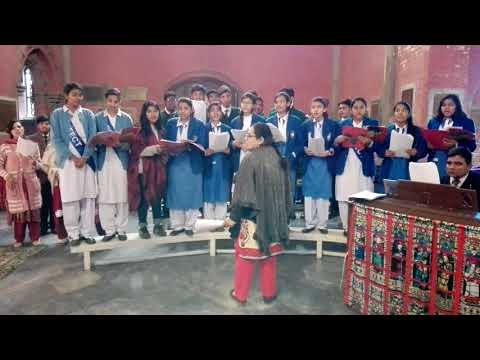 All Hail the power of Jesus   Christmas Carol by Cathedral School Choir, Hall Road, Lahore