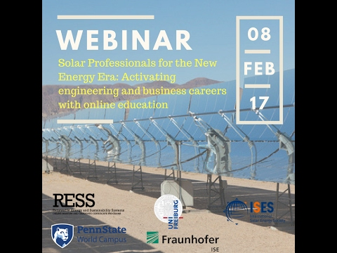 Webinar: Solar Professionals for the New Energy Era Activating engineering