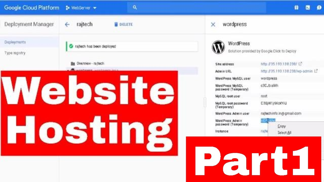 how to host a website in google cloud in hindi | how to host wordpress  website on google cloud