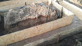 Фундамент,огород,стройка.
