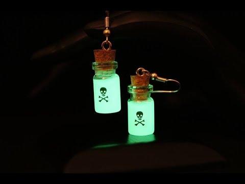 Bijoux Phosphorescent [tuto] colorer la fimo phosphorescente !