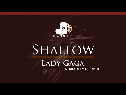 Lady Gaga, Bradley Cooper - Shallow - HIGHER Key (Piano Karaoke / Sing Along)