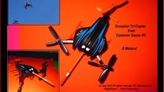 Scorpion Tri-copter (y-6) From Common Sense Rc