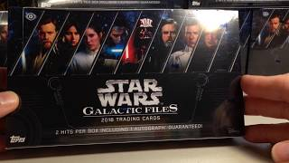 2018 Topps Star Wars Cards Opening Series #31 - Hobby Box #1 of 2018 Galactic Files