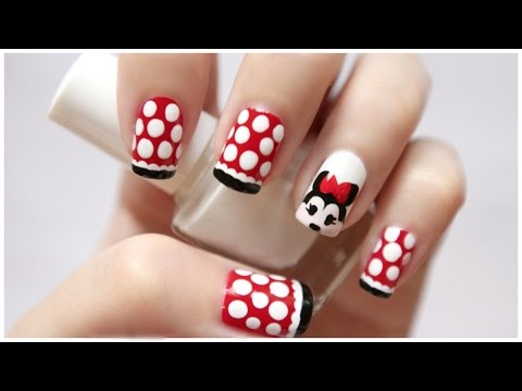 Disney Minnie Mouse Nail Art!  Missjenfabulous