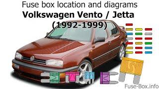 Fuse box location and diagrams: Volkswagen Vento / Jetta (1992-1999) -  YouTube   1997 Vw Jetta 2 0 Fuse Box      YouTube