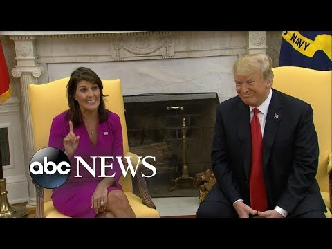 UN ambassador Nikki Haley resigns unexpectedly