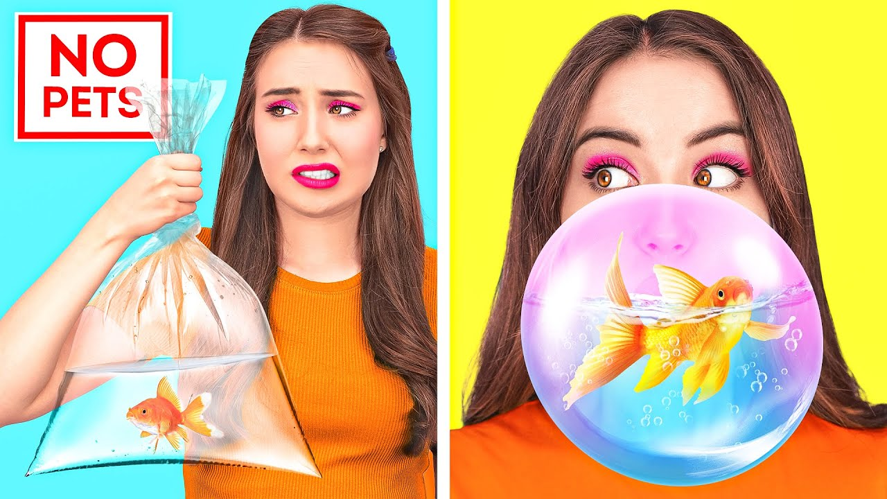 HOW TO SNEAK ANYTHING ANYWHERE || Crazy Hack To Sneak Pets, Food, Makeup And Phone By 123 GO Like!