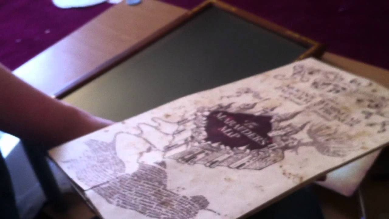 Harry Potter Marauder's Map Display Case Unboxing (and Map) - Noble on map cigarette case, map china, map stand, gps case, map banner, map jacket, map northern hemisphere, map cabinet, map presentation case, map tools,