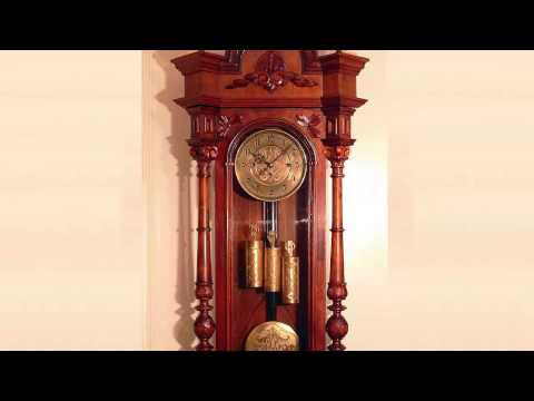 Grandfather's clock, ticking 10 hours [ Sleep Music ]