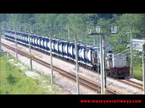 [MALAYAN RAILWAYS] TCB Cement Liner train no. 347 near Rasa, Selangor, Malaysia