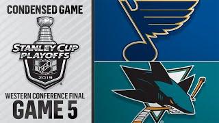 05/19/19 WCF, Gm5: Blues @ Sharks thumbnail