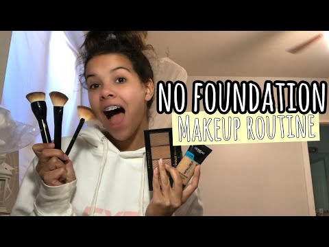 my SiMPLE NATURAL no FOUNDATiON makeup routine thumbnail