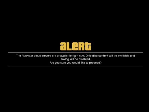 GTA 5 Online Fix - The Rockstar cloud servers are unavailable right now