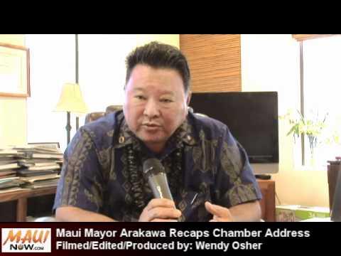 Maui Mayor Recaps Chamber Address - July 2012