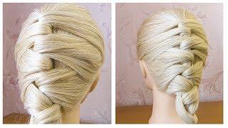 ЛЕГКАЯ и ЭЛЕГАНТНАЯ прическа на каждый день на средние волосы Красивые прически пошагово