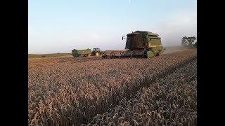 Żniwa 2018 - tegoroczna rekordzistka pszenica Linus/ John Deere 2256 & John Deere 6620 & 6110 Kula