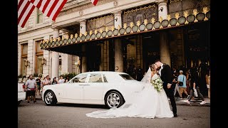 St Patrick's Cathedral & The Plaza Hotel Wedding in New York City