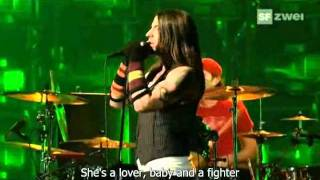 Red Hot Chili Peppers Dani California Live At The Brit Awards 2007 Video With Lyrics/subtitles