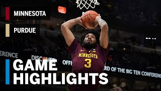 Highlights: Minnesota Upsets B1G Co-Champ Purdue   Minnesota vs. Purdue   2019 B1G Tournament