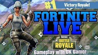 Fortnite listo para misiones de la semana 6 con Uk Gamer + Road to 1k subs + Giveaway at 1k