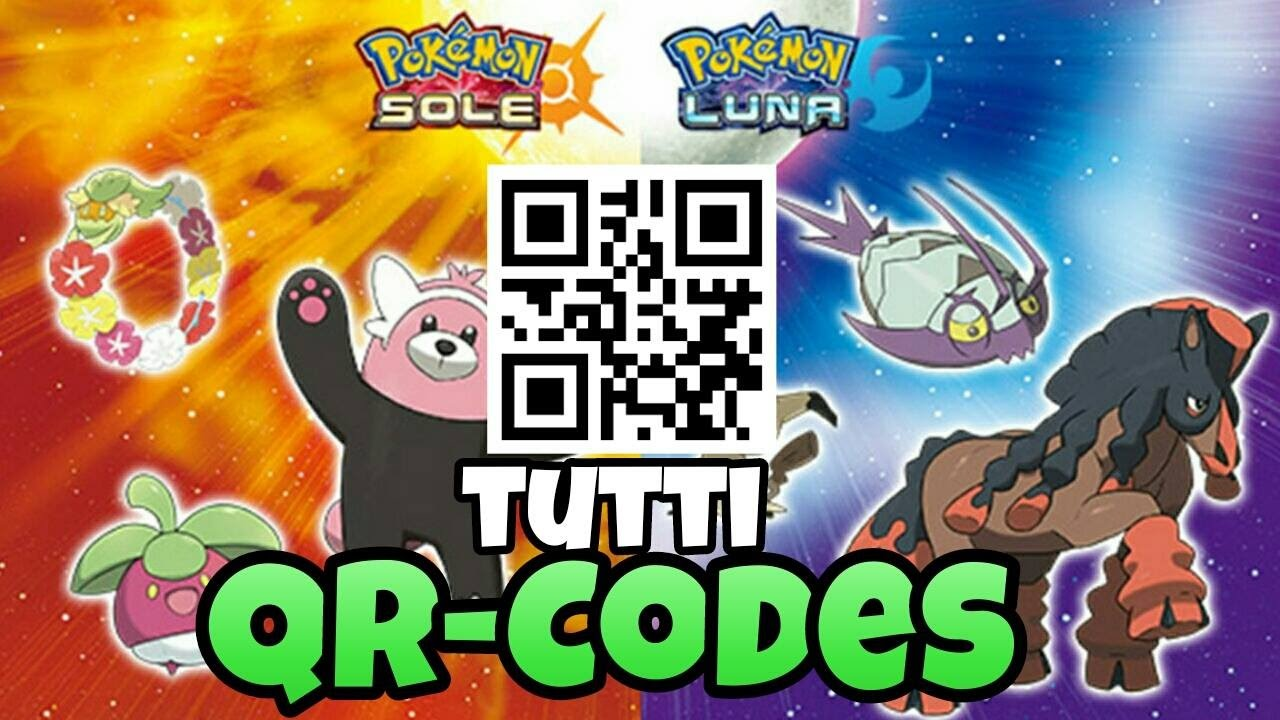 Tutti Qr Codes Di Pokemon Sole E Pokemon Luna Youtube