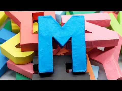 Letter Origami | 3D Alphabet Letters with Color Paper | 5 Minutes Crafts & Toys