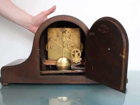 KIENZLE Clock Antique Napoleon Hat Tambour Westminster Chime LARGE