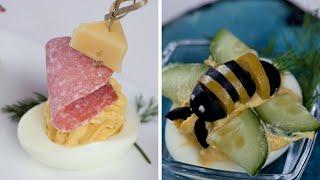 Фаршированные яйца с декором  - Рецепты от Со Вкусом
